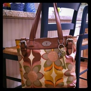 Fossil Keyper Shopper bag with cosmetic bag